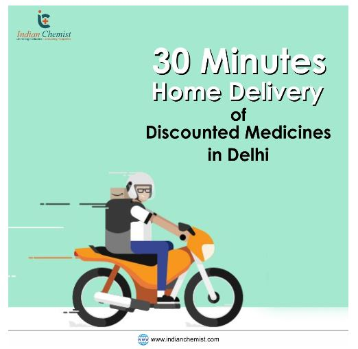 30 Minutes Home Delivery of Discounted Medicines in Delhi
