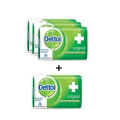 Dettol Bathing Bar Soap, Original - 75g (pack Of 4) With Price Off(2)