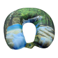 VIAGGI Memory Foam Neck Pillow - Green Forest