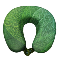 VIAGGI Memory Foam Neck Pillow - Leaf Green