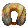 VIAGGI Memory Foam Neck Pillow - Yellow Forest