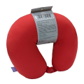 VIAGGI Microbead Travel Neck Pillow with fleece - Red