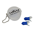 VIAGGI New Silicon Ear Plug - Transparent Blue